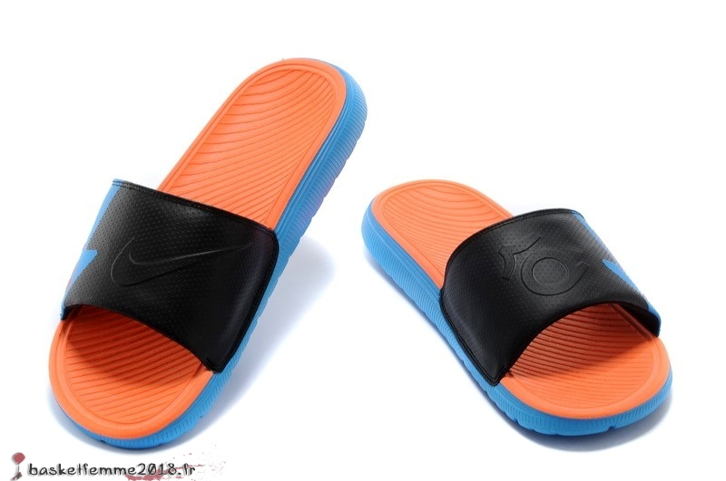 Nike KD Chaussons Homme Noir Orange Blue