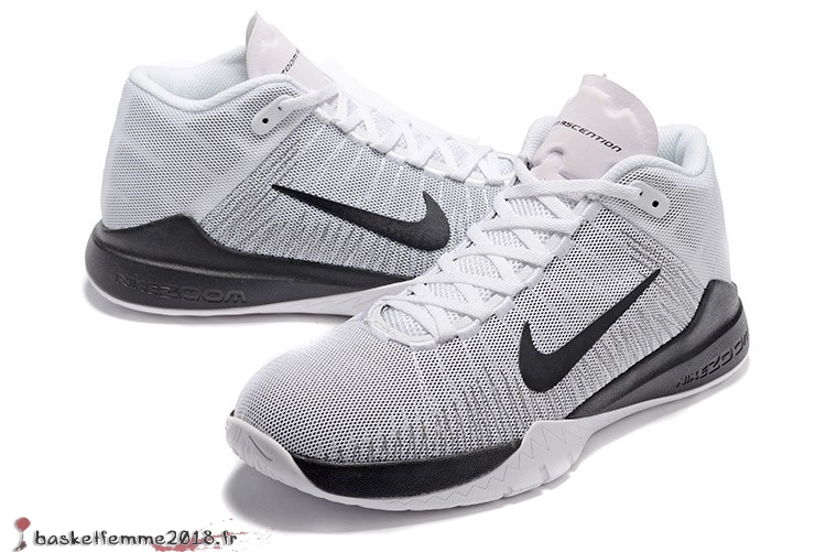 info for 15086 6dae9 ... Nike Zoom Ascention Carmelo Anthony Homme Blanc Noir Chaussure de Basket  ...